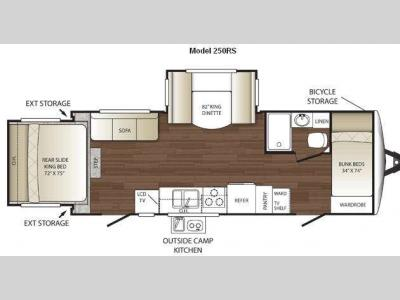 Floorplan - 2011 Keystone RV Outback 250RS