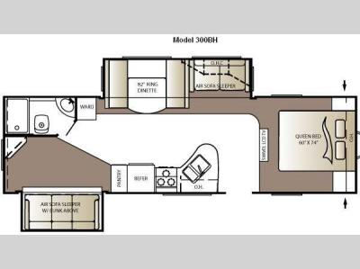 Floorplan - 2011 Keystone RV Outback 300BH