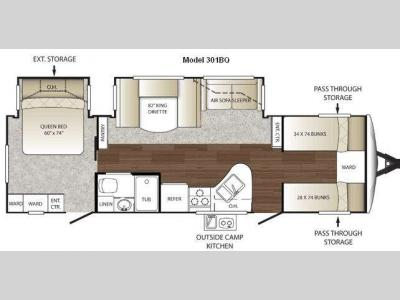 Floorplan - 2011 Keystone RV Outback 301BQ