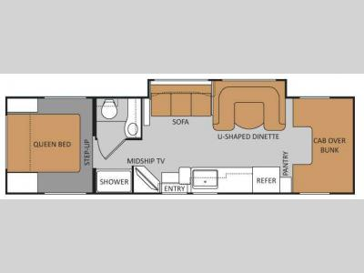 Floorplan - 2011 Four Winds RV Chateau 31K