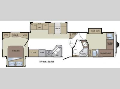 Floorplan - 2011 Keystone RV Cougar 322QBS