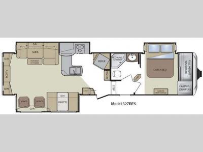 Floorplan - 2011 Keystone RV Cougar 327RES