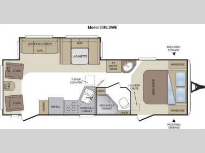 Floorplan - 2011 Keystone RV Cougar 25RLSWE