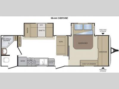 Floorplan - 2011 Keystone RV Cougar 26BRSWE