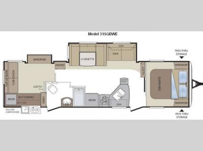 Floorplan - 2011 Keystone RV Cougar 31SQBWE