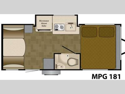 Floorplan - 2011 Heartland MPG 181