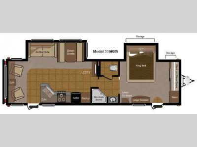 Floorplan - 2011 Keystone RV Sprinter 310KBS