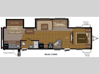 Floorplan - 2011 Keystone RV Sprinter 311BHS
