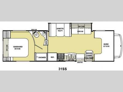 Floorplan - 2011 Coachmen RV Freelander 31SS