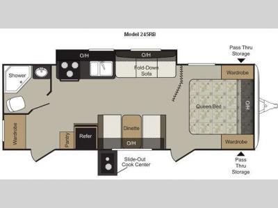 Floorplan - 2011 Keystone RV Passport 245RB