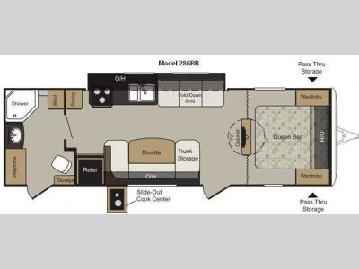 Floorplan - 2011 Keystone RV Passport 286RB