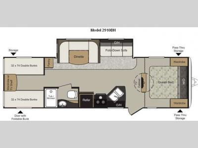 Floorplan - 2011 Keystone RV Passport 2910BH Grand Touring