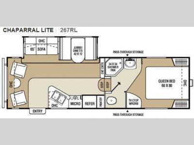 Floorplan - 2011 Coachmen RV Chaparral Lite 267RLS