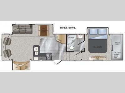 Floorplan - 2011 Keystone RV Alpine 3200RL