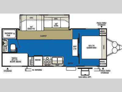 Floorplan - 2010 Forest River RV Wildwood 26TBSS