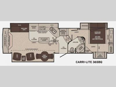 Floorplan - 2011 Carriage Carri-Lite 36SBQ