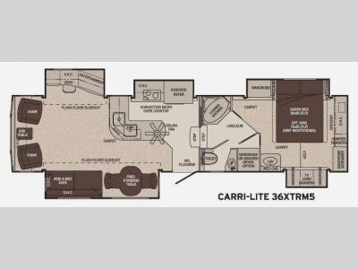 Floorplan - 2011 Carriage Carri-Lite 36XTRM5