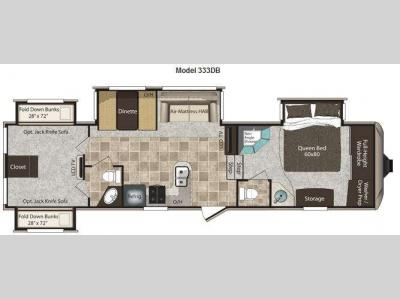 Floorplan - 2011 Keystone RV Montana High Country 333DB