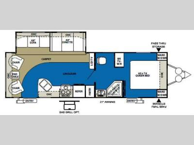 Floorplan - 2011 Forest River RV Wildwood 28RLSS