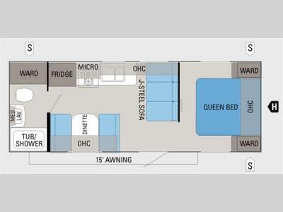 Floorplan - 2011 Jayco Jay Flight 22FB