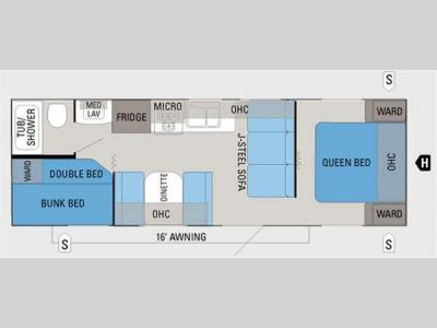 Floorplan - 2011 Jayco Jay Flight 26BH