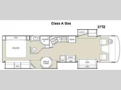 Floorplan - 2011 Coachmen RV Encounter 37TZ