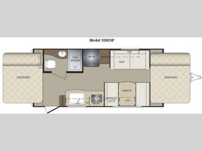 Floorplan - 2011 Keystone RV Bullet 188EXP