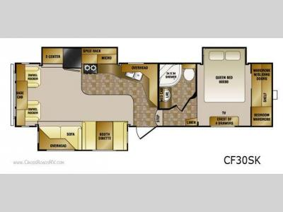 Floorplan - 2011 CrossRoads RV Cruiser CF30SK