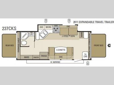 Floorplan - 2011 Starcraft  Travel Star 237CKS
