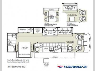Floorplan - 2011 Fleetwood RV Southwind 36D