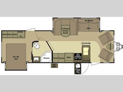 Floorplan - 2011 Open Range RV Roamer RT281FLR