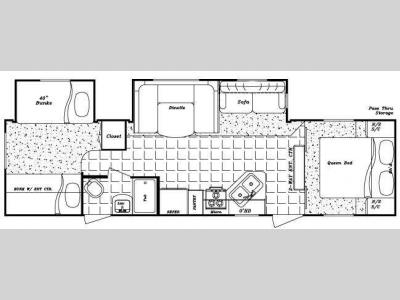 Floorplan - 2011 Gulf Stream RV Kingsport 321 TBS