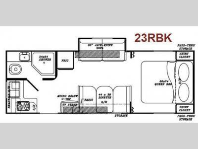 Floorplan - 2011 Gulf Stream RV Visa 23 RBK