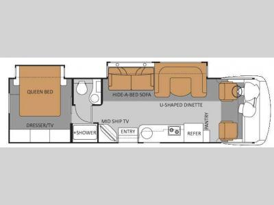 Floorplan - 2011 Four Winds RV Serrano 31X