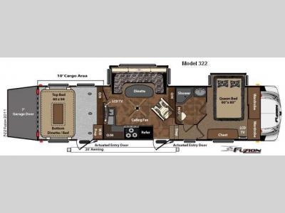 Floorplan - 2011 Keystone RV Fuzion 322