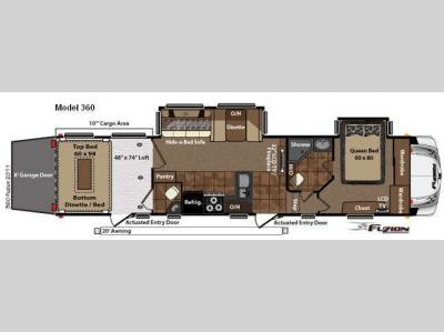 Floorplan - 2011 Keystone RV Fuzion 360