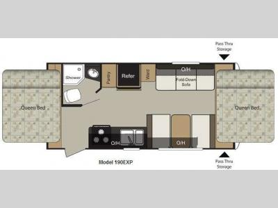 Floorplan - 2011 Keystone RV Passport Express SL 190EXP