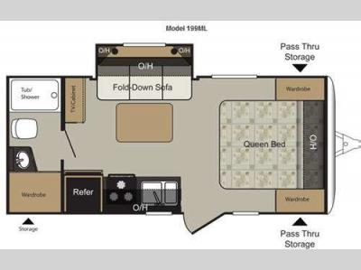 Floorplan - 2011 Keystone RV Passport Express SL 199ML