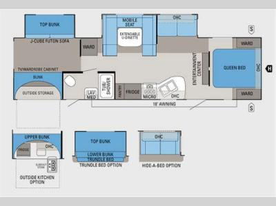Floorplan - 2011 Jayco Eagle Super Lite 314BDS