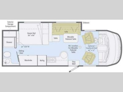 Floorplan - 2011 Winnebago Via 25R