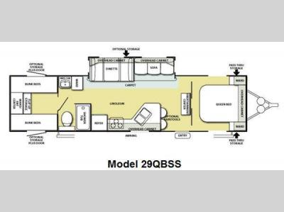 Floorplan - 2011 Forest River RV Salem 29QBSS