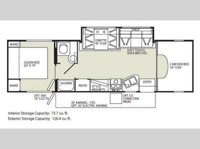Floorplan - 2011 Fleetwood RV Jamboree 31W