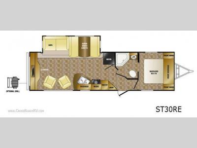 Floorplan - 2011 CrossRoads RV Sunset Trail ST30RE