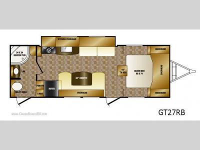 Floorplan - 2011 CrossRoads RV Slingshot GT27RB
