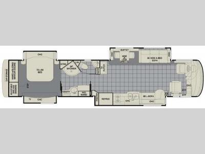 Floorplan - 2011 Newmar Essex 4522