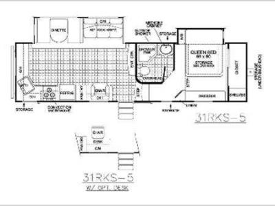 Floorplan - 2011 EverGreen RV Ever-Lite 31RKS-5