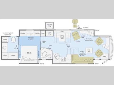 Floorplan - 2011 Itasca Ellipse 42QD
