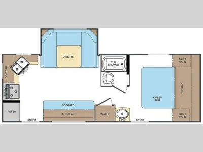 Floorplan - 2011 Lance Travel Trailers 2285