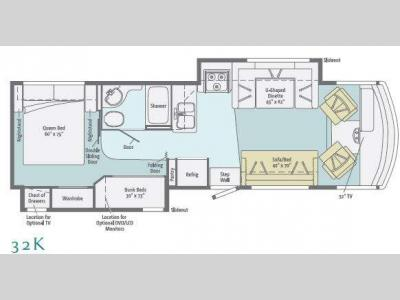 Floorplan - 2011 Itasca Sunstar 32K