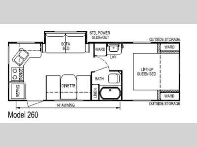 Floorplan - 2011 Skyline Nomad Joey Select 260